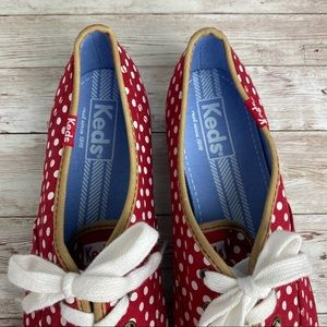 Keds Shoes - Keds polka dot leather trim preppy sneakers